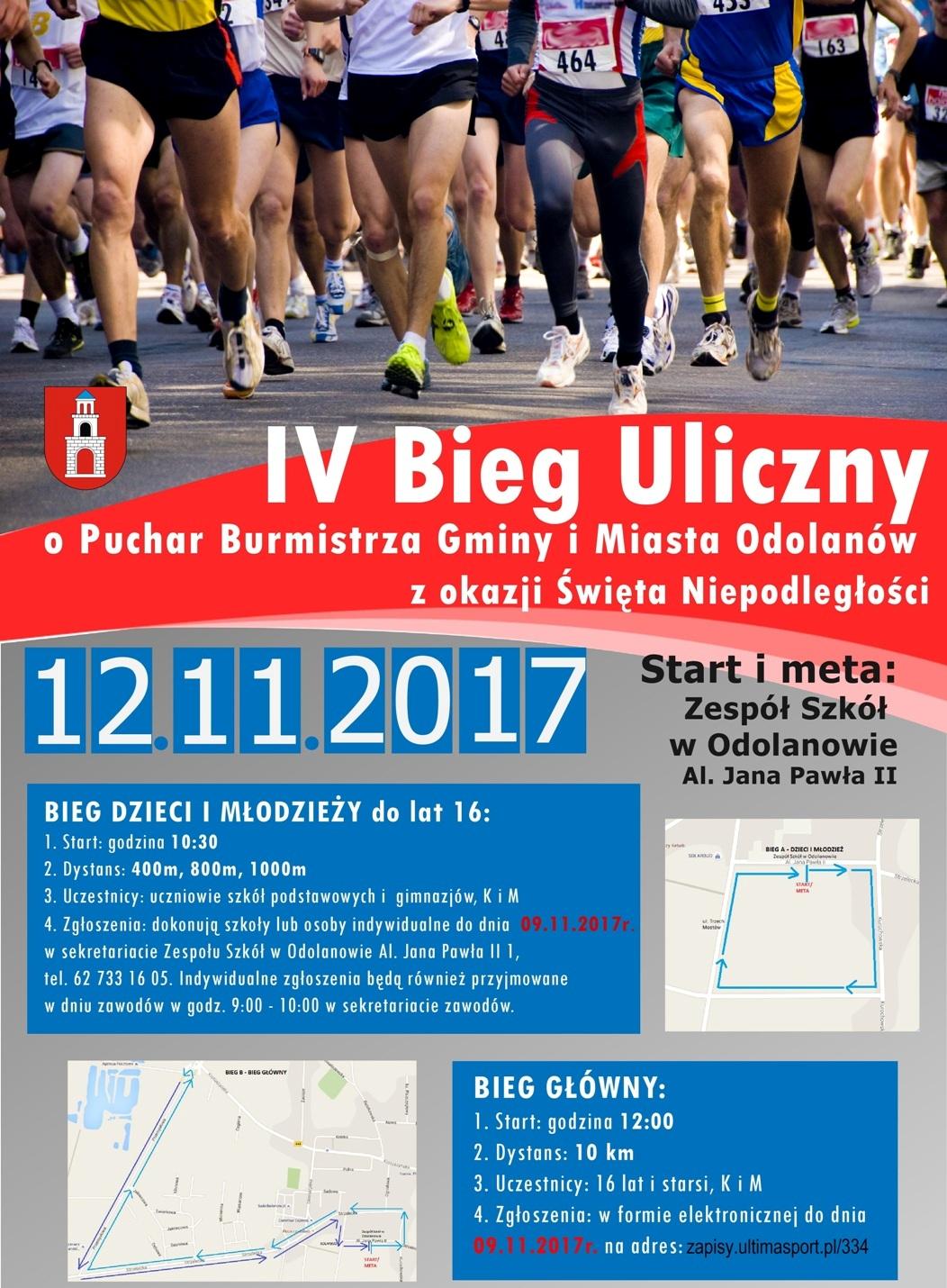 IV Bieg Uliczny o Puchar Burmistrza Gminy i Miasta...